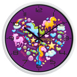 DESIGN WALL CLOCK UNICORN'S HEART