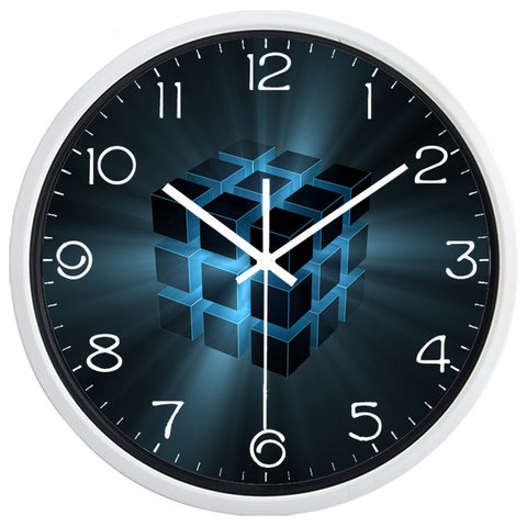 DESIGN WALL CLOCK RUBIK'S CUBE