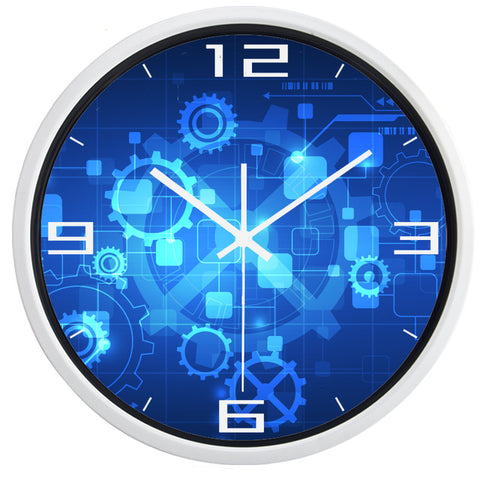 DESIGN WALL CLOCK FUTURISTIC GEARS