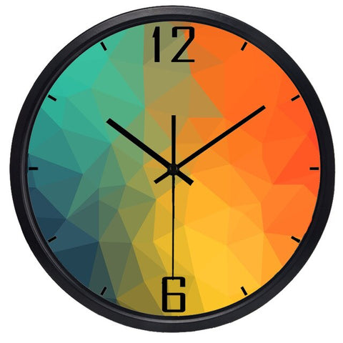 DESIGN WALL CLOCK COLOURED WATERFALL