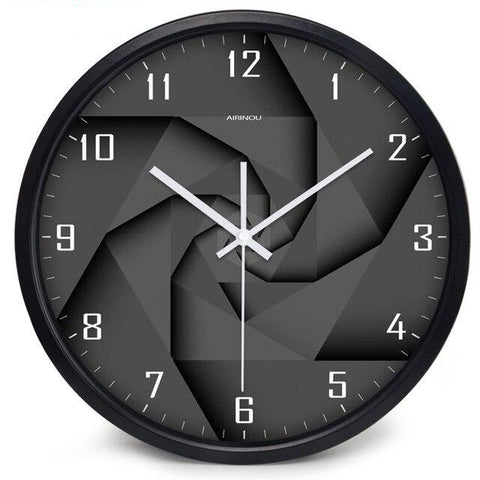 DESIGN WALL CLOCK BLACK VORTEX