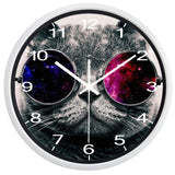 DESIGN WALL CLOCK GALAXY CAT