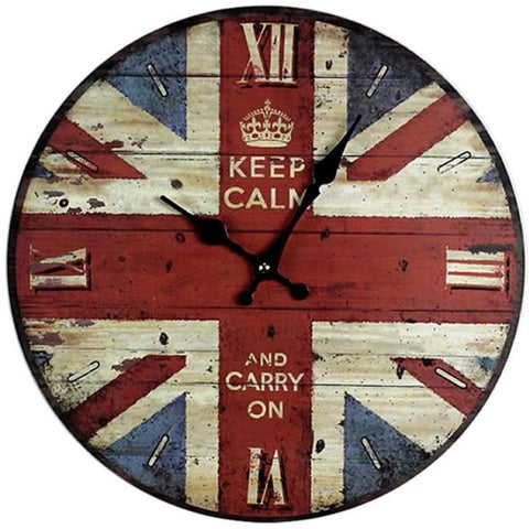 VINTAGE WALL CLOCK KEEP CALM