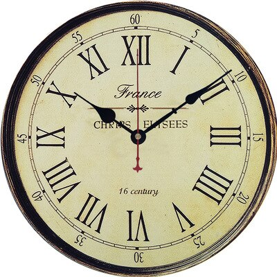INDUSTRIAL WALL CLOCK OLD FRANCE