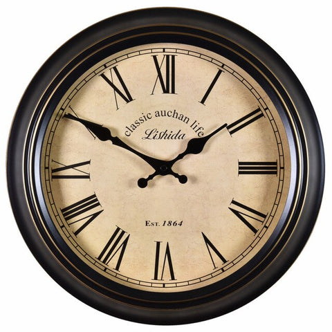 VINTAGE WALL CLOCK RETRO METAL