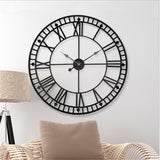 Industrial Wall Clock <br> Black Metal