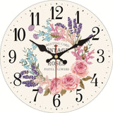VINTAGE WALL CLOCK 50 SHADES OF FLOWERS