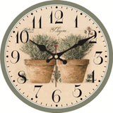 Vintage Wall Clock <br> 50 Shades of Flowers