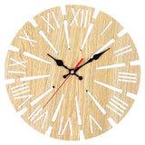 Industrial Wall Clock <br> Apparent Wood
