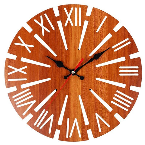 INDUSTRIAL WALL CLOCK APPARENT WOOD