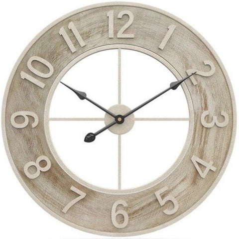 INDUSTRIAL WALL CLOCK RAW CIRCLE