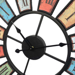 Industrial Wall Clock <br> Multicolor