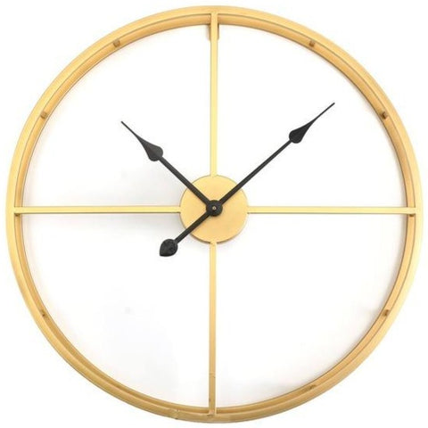 INDUSTRIAL WALL CLOCK MINIMALIST GOLD CIRCLE