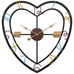 INDUSTRIAL WALL CLOCK CUPID'S HEART