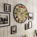 World Map Wall Clock <br> Giant Grid