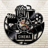 Vinyl Wall Clock <br> Cinema