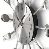 Kitchen Wall Clock <br> Cutlery with Forks and Spoons