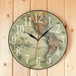 World Map Wall Clock <br> Old Map