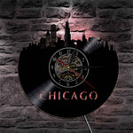 Vinyl Wall Clock <br> Chicago