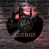 Vinyl Wall Clock <br> London