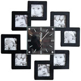 PHOTOS WALL CLOCK MULTIPLE SQUARES