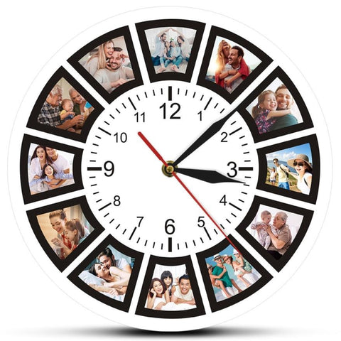 PHOTOS WALL CLOCK CIRCULAR DIAL