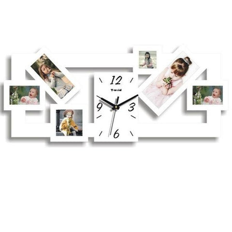 PHOTOS WALL CLOCK GREAT FRAME