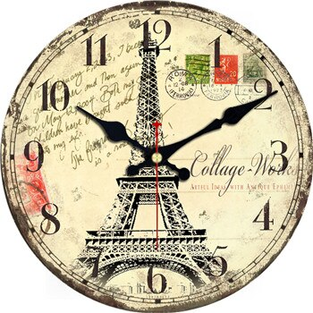 VINTAGE WALL CLOCK EIFFEL TOWER