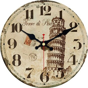 VINTAGE WALL CLOCK TOWER OF PISA