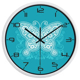 DESIGN WALL CLOCK BLUE BUTTERFLY