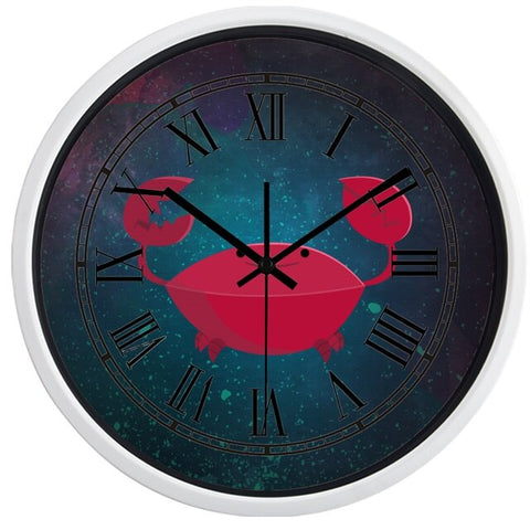 DESIGN WALL CLOCK OCEAN CRAB
