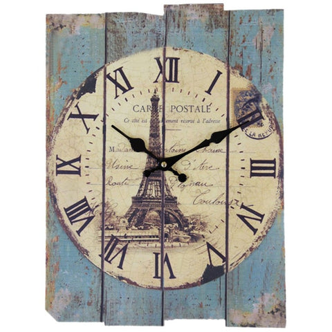 VINTAGE WALL CLOCK OLD MONUMENTS