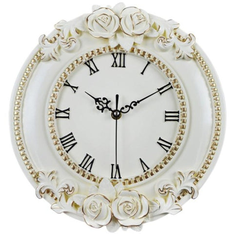 VINTAGE WALL CLOCK ROSE MOULDINGS