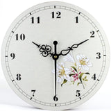 VINTAGE WALL CLOCK ORCHID FLOWER