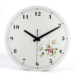 Vintage Wall Clock <br> Orchid Flower
