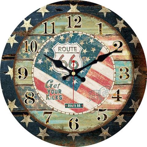 VINTAGE WALL CLOCK ROUTE 66