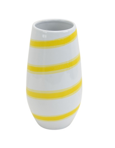 Yellow Striped Vase