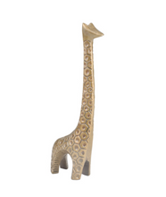 Load image into Gallery viewer, Gold Aluminum Giraffe