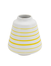Load image into Gallery viewer, Yellow Striped Vase