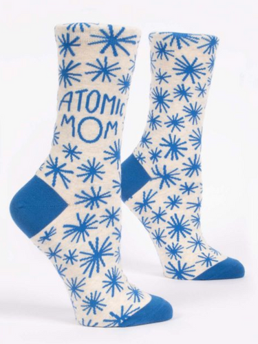 Blue Q Atomic Mom Women's Crew Socks