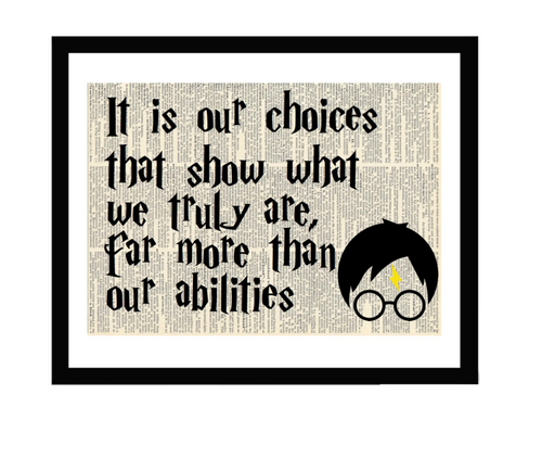 Harry Potter Our Choices 5x7 Framed Print