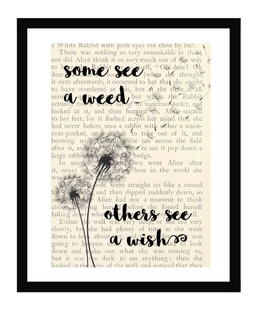 Some See a Weed, Others See a Wish 5x7 Framed Print