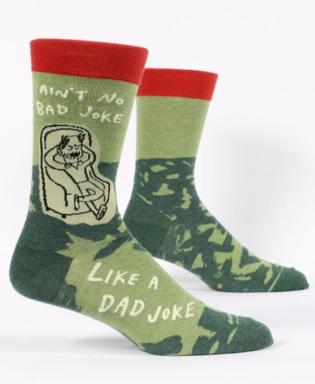 Blue Q Ain't No Bad Joke Like a Dad Joke Men's Crew Socks