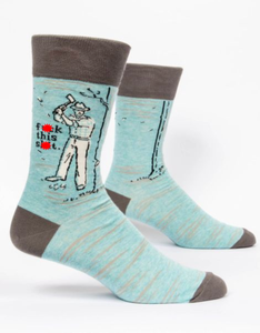 Blue Q F**k This S**t Men's Crew Socks