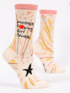 Blue Q Motherf**king Girl Power Women's Crew Socks