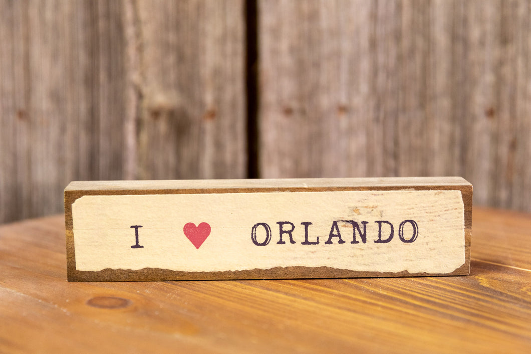 I Heart Orlando Shelf Sitter Sign