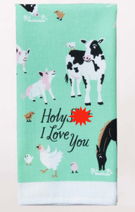 Blue Q Holy S**t I Love You Dish Towel