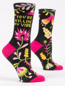 Blue Q You're Killin' My Vibe Women's Crew Socks