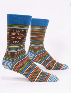 Blue Q I Left the Seat Up for You Men's Crew Socks