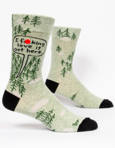 Blue Q I F**king Love It Out Here Men's Crew Socks